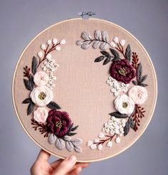 Hand Embroidery Patterns Flowers, Hand Embroidery Videos, Embroidery Stitches Tutorial, Embroidery Flowers Pattern, Simple Embroidery, Embroidery Hoop Art, Hand Embroidery Designs, Vintage Embroidery, Etsy Embroidery