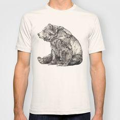 """Bear // Graphite"" T-Shirt by Sandra Dieckmann on Society6."