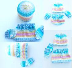 Warm hat and shawl for ages made of wool Baby Socks, Shawl, Crochet Hats, Rainbow, Leggings, Warm, Knitting, Handmade Gifts, Fashion