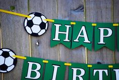 Soccer Birthday Party Banner Sports Banner by Cutiepiepartyshoptoo Soccer Birthday Parties, Football Birthday, Soccer Party, Birthday Party Themes, Sports Birthday, Birthday Stuff, Birthday Decorations, Birthday Ideas, Soccer Theme