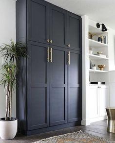 Living Room Storage, Room Shelves, Kitchen Storage, Living Room Storage Cabinet, Cabinet Doors Online, Ikea Storage, Tall Cabinet Storage, Pantry Wall, Storage