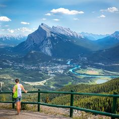 View of Banff and the gorgeous Bow River from Mt. Norquay.  Instagram photo : @cupojava by stoneridgeresort