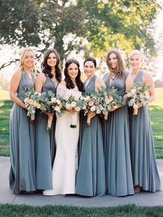 slate bridesmaid dresses