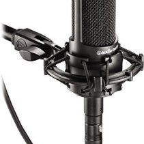 Audio Technica At2035 Cardioid Studio Condenser Microphone With Knox Gear Pop Filter Boom Arm Twoelevengear Microphone Audio Technica Audio
