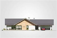 Parterowy dom na działkę z wjazdem od południa - Studio Atrium Minimalist House Design, Minimalist Home, Craftsman House Plans, Home Fashion, Cabin, House Styles, Studio, Home Decor, Log Homes