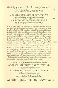 1495 Aldo Manuzio diseña una nueva tipografía romana llamada Bembo