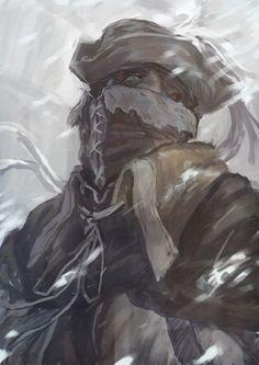 Old Hunter Henryk Character Portraits, Character Art, Character Design, Blood Hunter, Bloodborne Art, Soul Game, Old Blood, Dark Souls 3, M Anime