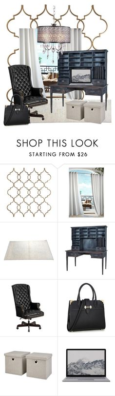 """If one must work! Do it in style! #homeoffice #homeofficeideas"" by vickyshandcrafteddesigns ❤ liked on Polyvore featuring interior, interiors, interior design, home, home decor, interior decorating, Commonwealth Home Fashions and Flash Furniture"