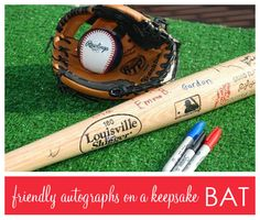 Baseball party - have guests sign a bat for the birthday kid
