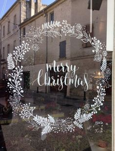 Window Drawing by ML & Co - Christmas - drawing P . - Window Drawing by ML & Co – Christmas – # Window drawing Pinner noel Source no - Noel Christmas, Winter Christmas, All Things Christmas, Christmas Wreaths, Winter Snow, Christmas Window Decorations, Christmas Window Display, Christmas Windows, Christmas Window Paint