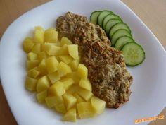 Celerové karbanátky Mashed Potatoes, Steak, Recipies, Eggs, Beef, Breakfast, Ethnic Recipes, Food, Whipped Potatoes