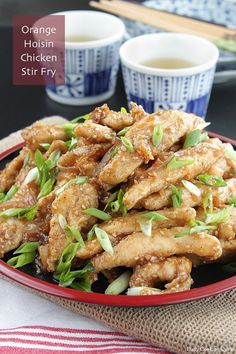 Orange Hoisin Chicken Stir Fry Baked Fried Chicken, Fried Chicken Strips, Steamed Chicken, Fried Chicken Breast, Fried Chicken Recipes, Prawn Recipes, Chicken Meals, Chinese Rice Wine Recipe, Easy Chinese Recipes