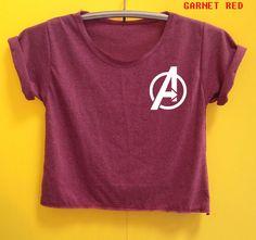 Captain America shirt Captain America crop shirt Tshirt by LookOhm