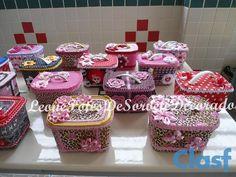 Potes de sorvetes decorados