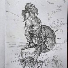 Art of Karl Kopinski - Viking sketch!!