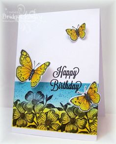 CC419 Birthday Butterflies by bfinlay - Cards and Paper Crafts at Splitcoaststampers