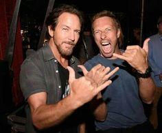 Chris Martin & Eddie Vedder
