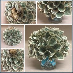Money lei, Creative Ways to Gift Money – Party Ideas Money Rose, Money Lei, Gift Money, Money Gifting, Cash Gifts, Origami Money Flowers, Money Origami, Dollar Bill Origami, Money Bouquet