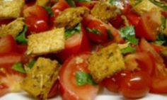 This healthy salad combines tomatoes with fresh basil, and chunky croutons loaded with cheese. Looking delightfully festive with its wonderful red, green and gold display of Christmas colours, it is a fresh and flavoursome salad to serve this Christmas.