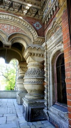 Igumnov's House. Detail of the entrance. The house was built in 1883 – 1893 by Nikolay Igumnov, a rich Russian merchant. Architect: Nikolay Pozdeev. Nowadays, the residence of the French Ambassador to Russia is situated here. Moscow, #Russia.