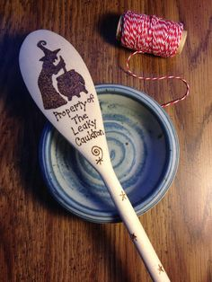 Witch Wood Burned Pyrography Wooden Kitchen Spoon by IndigoSpoons