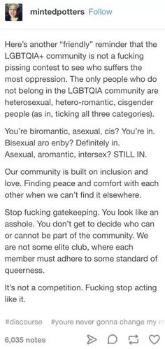 the people who think asexuals/aromatics don't belong in LGBTQ+ spaces Def Not, Intersectional Feminism, Faith In Humanity, Equality, Just In Case, Positivity, Feelings, Sayings, Words