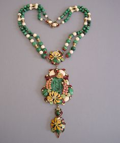beaded jewellery with pink and yellow and green - Google Search
