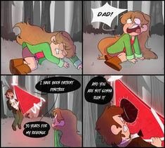 Deal by on DeviantArt Gravity Falls Funny, Gravity Falls Anime, Gravity Falls Fan Art, Gravity Falls Comics, Fall Humor, Fall Memes, Dipper And Pacifica, Grabity Falls, Funny Grumpy Cat Memes