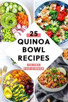 25 Quinoa Bowl Recipes to Try for Dinner purewow easy dinner recipe food quinoabowl quinoa quinoarecipes healthyrecipes healthydinners dinnerbowls healthybowls 752593787705796171 Quinoa Recipes Easy, Salad Recipes For Dinner, Vegetarian Recipes, Healthy Recipes, Keto Recipes, Heathly Dinner Recipes, Healthy Meals, Cheap Recipes, Picnic Recipes