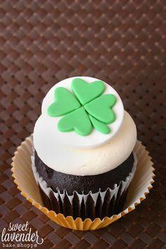 Four Leaf Clover Cupcake