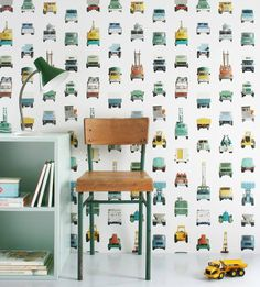 Need a little inspiration for your little ones room? Add a little quirk and fun with these 10 Quirky Wallpaper Designs. the perfect way to add some character to your little adventurer's room! Quirky Wallpaper, Boys Wallpaper, Wallpaper Online, 3d Studio, Baby Kind, Fashion Room, Kid Spaces, Designer Wallpaper, Wallpaper Designs