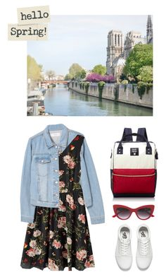 Denim Spring by missnidy on Polyvore featuring MANGO, Vans, Anello, Dolce&Gabbana, denimjacket and Spring2017