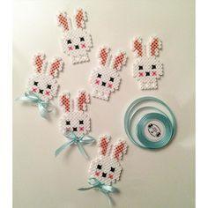 Easter bunnies hama beads by sarahnorgaard