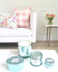 www.littlerugshop.com Mothers Day is one of my favorite holidays so why not start celebrating?!! Two lucky mamas will win my Petite Pastel blooms pillow and Blush buffalo check pillow AND all 4 of these @voluspacandles! Heres how to enter:   1. Tag a mother you know & love in the comments below 2. Both winners must be following us on Instagram.  Winners will be announced Monday morning. Good luck! by caitlinwilsondesign