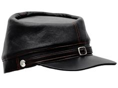 Sterkowski Genuine Leather Mens Secession Kepi Civil War Cap US 7 12 Black >>> Check out the image by visiting the link.