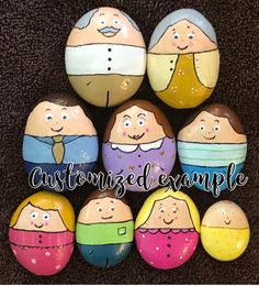 My Family Story Stones Painted Rocks –Family/House Role Play, Preschool Learners, Family Keepsake, Fun Personalized Gift – Anna Thomas - Space Rock Family, The Family Stone, Cute Kids Photos, Painted Rocks, Hand Painted, Stone Painting, Rock Painting, Story Stones, Rock Design