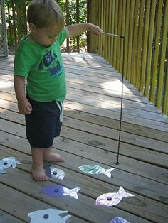 Fishing games could be great for teaching numbers sight words, time etc.