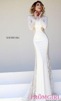 I LOOOOOOOOVE!!!!!!!!!!!!!  Prom Dresses, Plus Size Dresses, Prom Shoes -PromGirl : Floor Length Long Sleeve Prom Dress