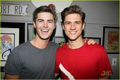 Aaron and Zac <3 omg I just died, I'm not even lying.... holy fuck this just made my life ten times better(: