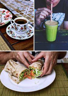 Turkish coffee, mango lassi and Tavuk kebab at Istanbul cafe in Paraty, Brazil | heneedsfood.com