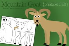 Goat template printable - My Father's World Kindergarten G is for Goat - Mountain Goat craft super easy and cute!