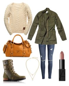 """""""Fall afternoon"""" by jessbella001 on Polyvore featuring H&M, SOREL, NARS Cosmetics, Kate Spade, Dooney & Bourke and Nili Lotan"""
