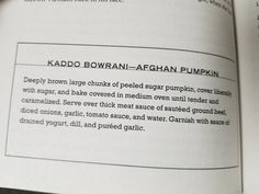 11. Kaddo Bowrani-Afghan Pumpkin