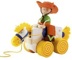 Nachziehtier * Pull Toy * Cowboy