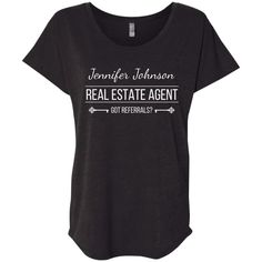 Customizable Real Estate Agent Shirt Ladies' Loose Fit Shirt – My Pin's Selling Real Estate, Real Estate Investing, Real Estate Business, Real Estate Marketing, Home Buying Tips, Sell Your House Fast, Corporate Gifts, Lady, T Shirts For Women