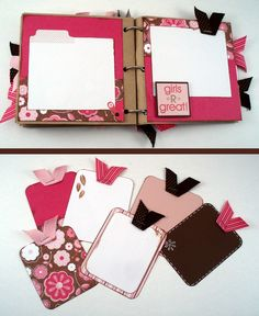 Paper Bag Scrapbook Album Girls Just Want by daffodilsanddaisies, $25.00