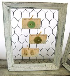 Best DIY Ideas With Chicken Wire - Shabby Chic Chicken Wire Frame - Rustic Farmhouse Decor Tutorials With Chickenwire and Easy Vintage Shabby Chic Home Decor for Kitchen, Living Room and Bathroom - Creative Country Crafts, Furniture, Patio Decor and Rustic Wall Art and Accessories to Make and Sell http://diyjoy.com/diy-projects-chicken-wire
