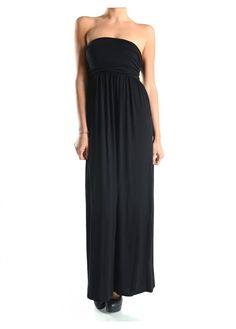 Casual Strapless Side Shirred Tube Summer Beach Maxi Long Dress