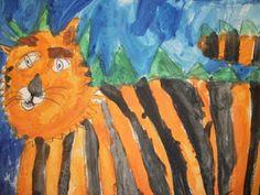 we heart art: terrr-iffic tigers!