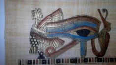 Papyrus as processed in Ancient Egypt and depicts a Scene from Ancient Egyptian Art Handmade and Hand-painted beautifully  http://history-direct.com/